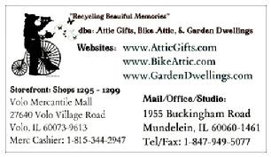In The Attic, Inc. ~ Business Card Back