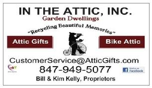 In The Attic, Inc ~Business Card Front